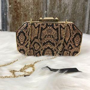 BCBGMaxAzria Devlin Snakeskin Clutch Bag